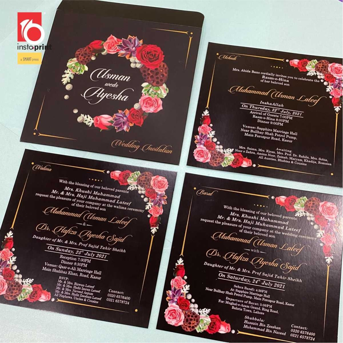 Insta Print All Wedding Cards With Envelop