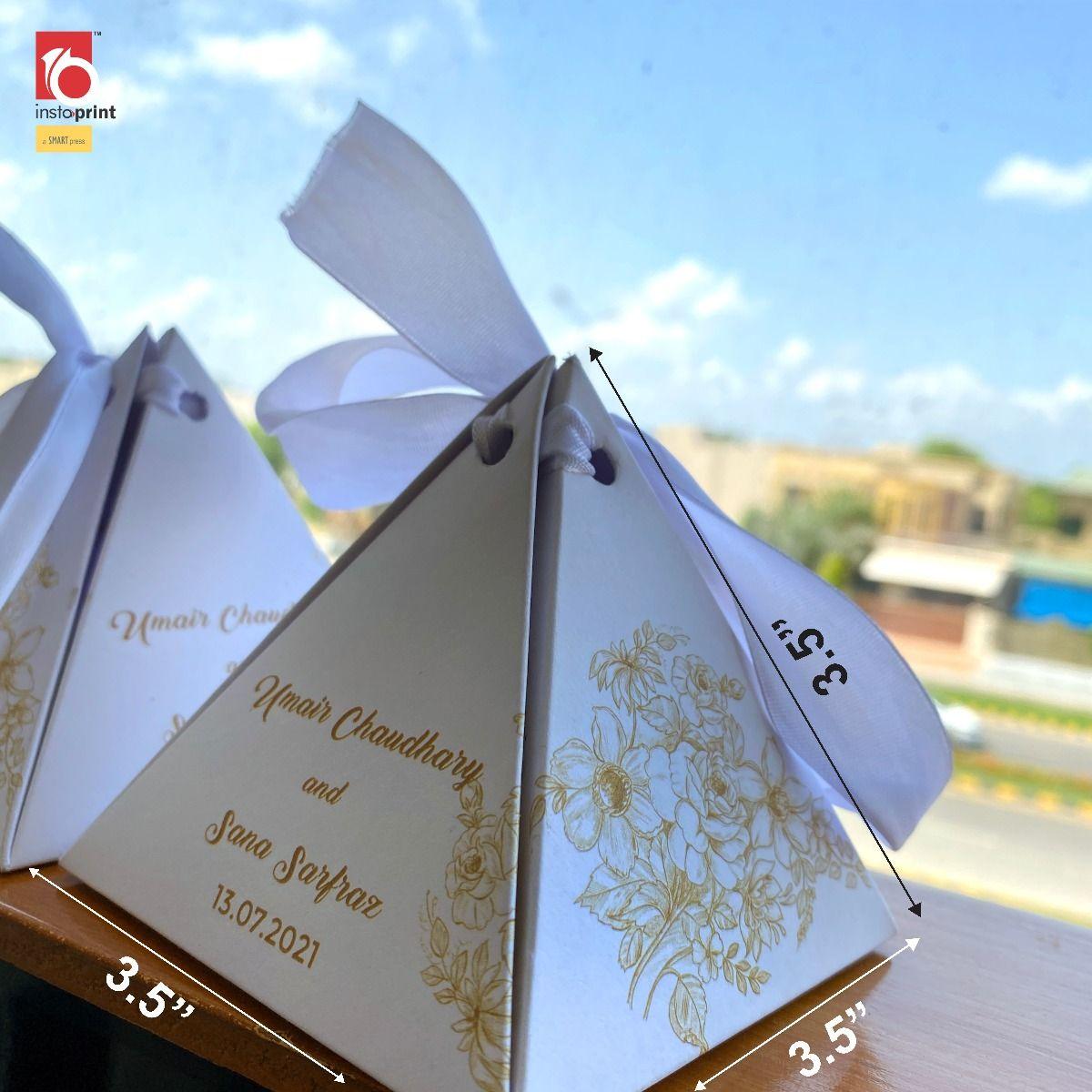White & Gold Floral Bidd Box