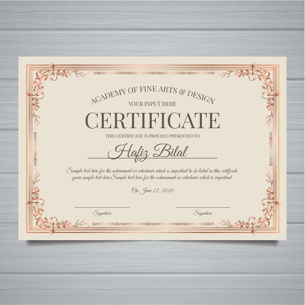 Insta Print Marketing Material Certificate Custom