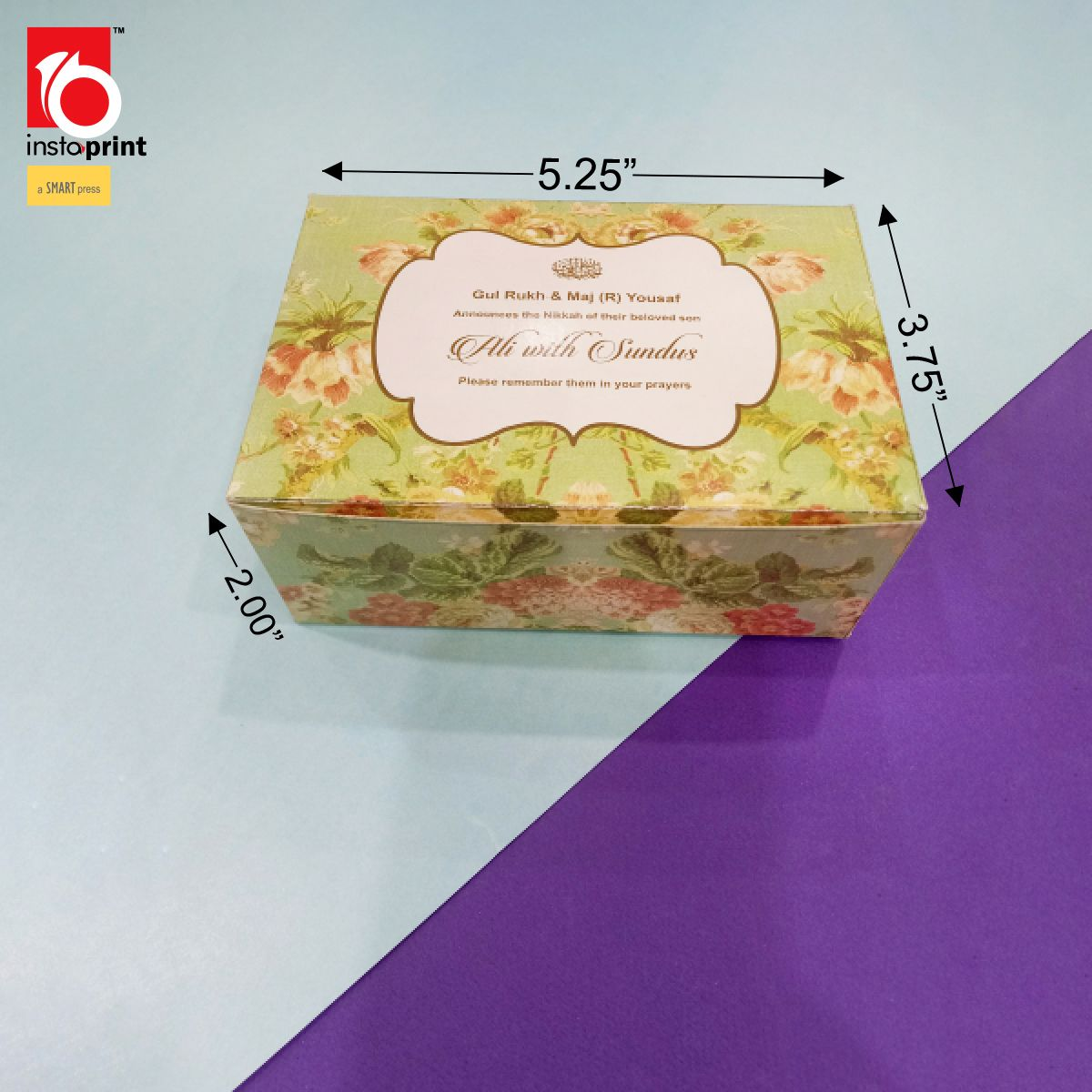 Insta Print All Floral Nikkah Bidd Box