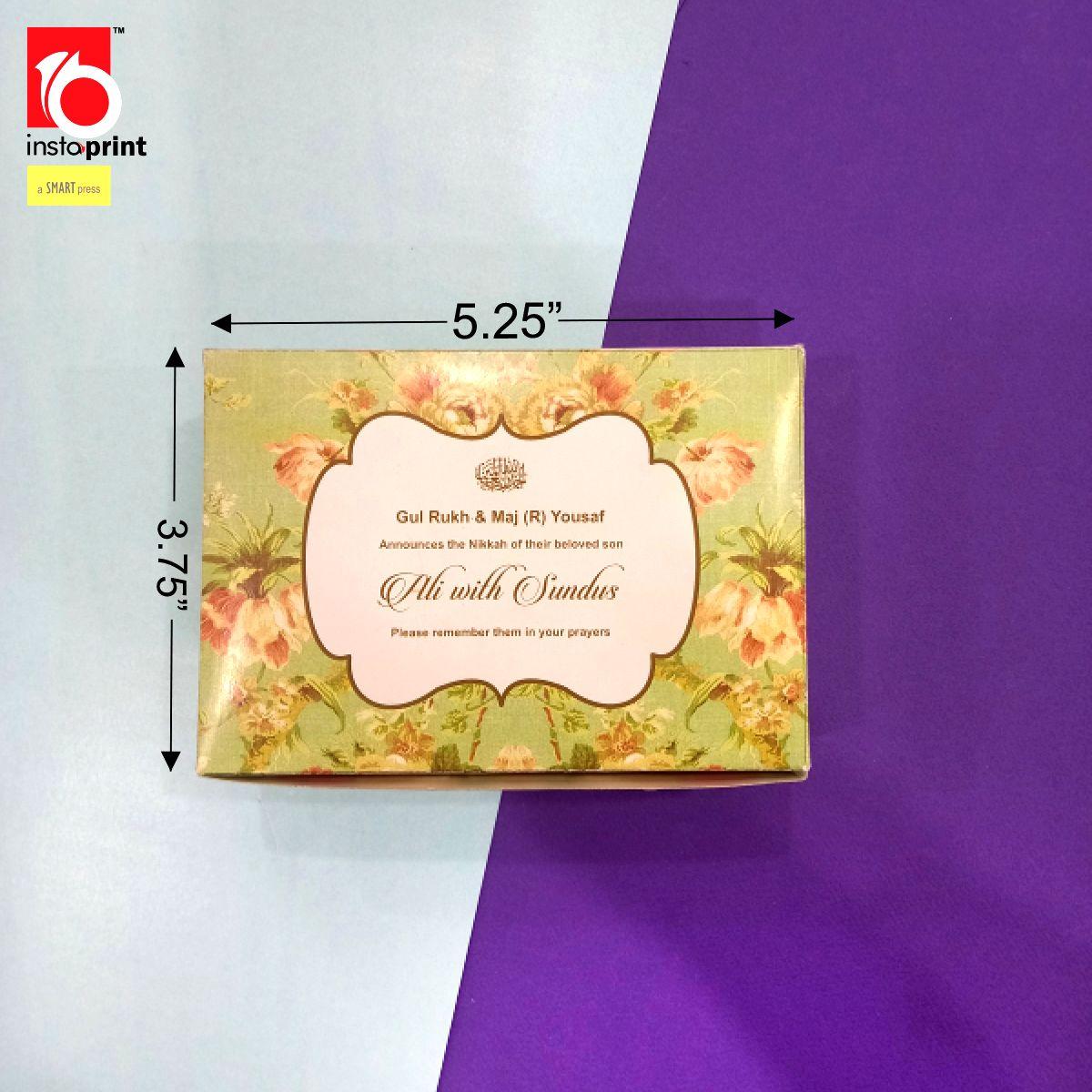 Floral Nikkah Bidd Box