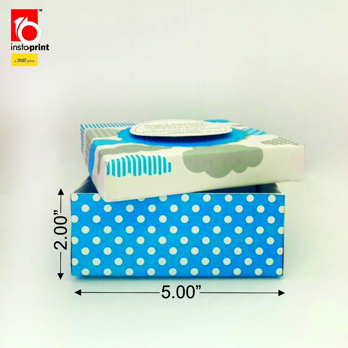 Baby Boy Announcement Lid Box